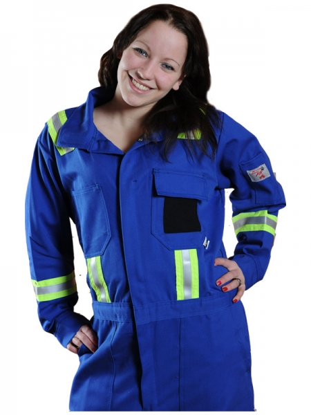 Indura 7oz Fr Striped Summer Coveralls Kost Fire Safety