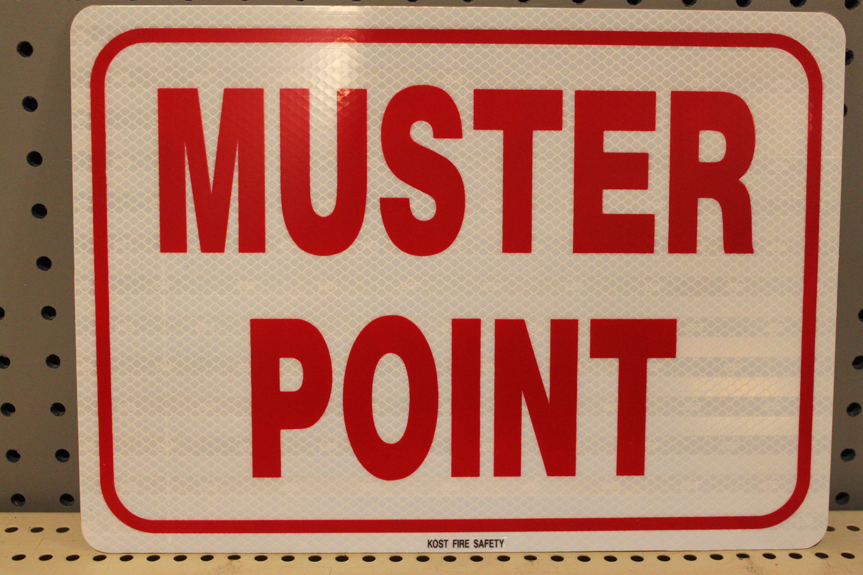 Muster Point Metal Kost Fire Safety